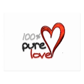 100% reine Liebe Postkarte