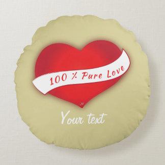 100% reine Liebe Rundes Kissen