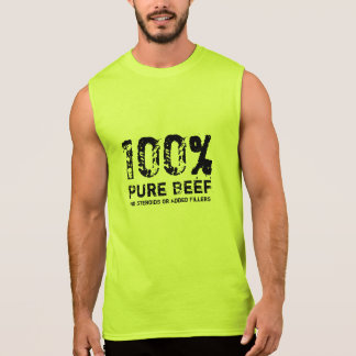 100% reines Rindfleisch Ärmelloses Shirt