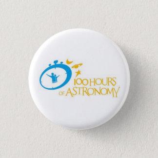 100 Stunden Astronomie Runder Button 2,5 Cm