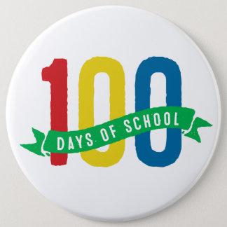 100 Tage des Schulknopfes Runder Button 15,3 Cm