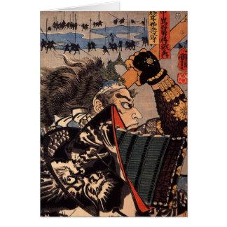 100 tapfere General-japanische Samurai-Malerei Karte