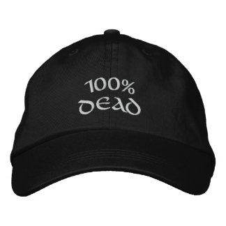 100% Tote Bestickte Kappe