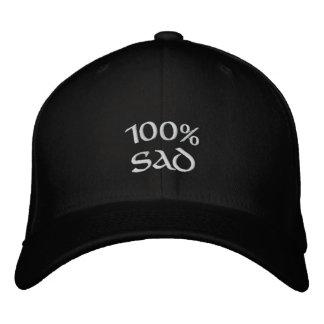 100% traurig bestickte kappe