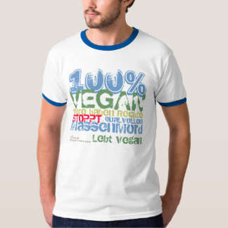 100% VEGAN -.- .-. T-Shirt