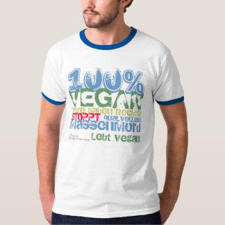 100% VEGAN -.- .-. T-Shirts