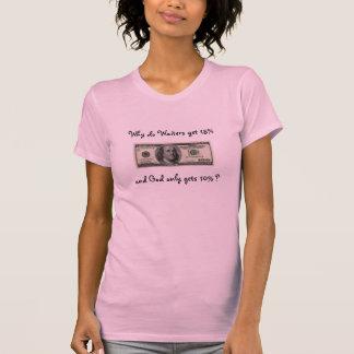 $100, warum Kellner tun Sie, erhalten 15% und Gott T-Shirt