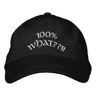 100% was??!! bestickte baseballkappe