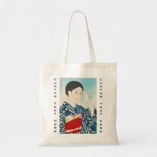 100 Zahlen der Schönheiten, die Takasago Kimonos Budget Stoffbeutel