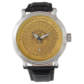 100 Zł polnische Münzen-Uhr Armbanduhr