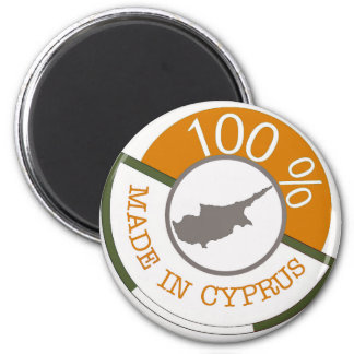 100% Zypriot! Runder Magnet 5,1 Cm