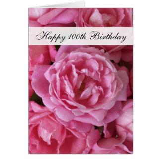 100th Geburtstags-Karte - Rosen für 100 Jahr Karte