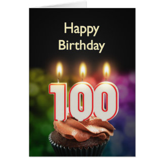 100th Geburtstagskarte mit Kerzen Karte