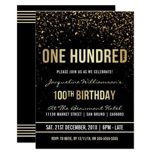 coole einladungen zum 100. geburtstag   meine-einladungskarten.de, Einladungen