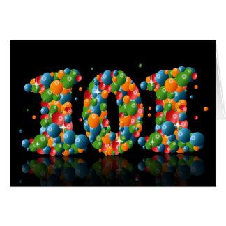 101. Geburtstag mit den Zahlen gebildet von den Grußkarte