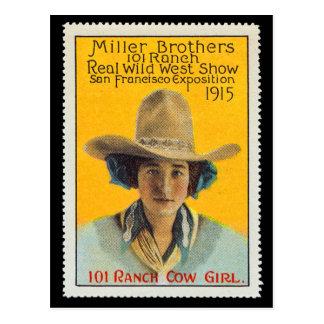 101 Ranch-Cowgirl-Plakat-Briefmarke, #1, Postkarte