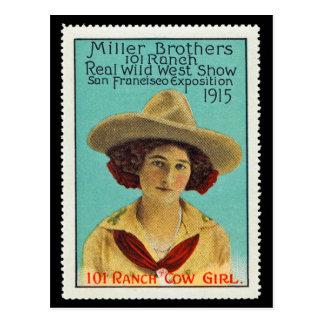 101 Ranch-Cowgirl-Plakat-Briefmarke #3, Postkarte