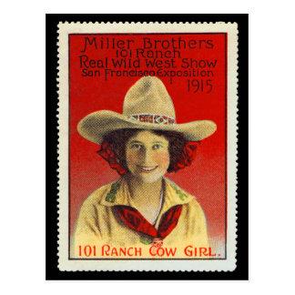 101 Ranch-Cowgirl-Plakat-Briefmarke #4, Postkarte