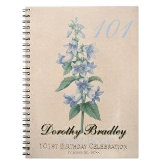 101st Geburtstags-Feier-botanisches Gast-Buch Notizblock