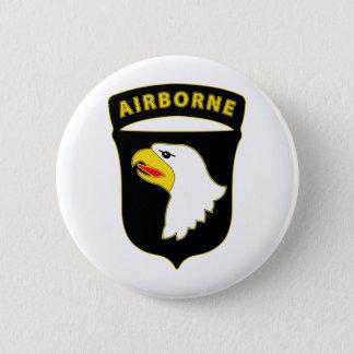 101st Im Flugzeug Runder Button 5,1 Cm