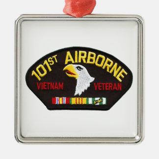 101st Im Flugzeug Vietnam-Veteran Silbernes Ornament