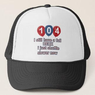 104-jährige lustige Geburtstagsentwürfe Truckerkappe