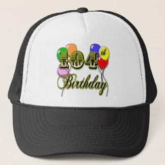 104th Geburtstag mit Ballonen Truckerkappe