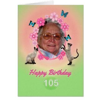 105. Fotokarte mit Katzen und Schmetterlingen, Karte