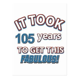 105. Jahrgeburtstagsentwürfe Postkarte