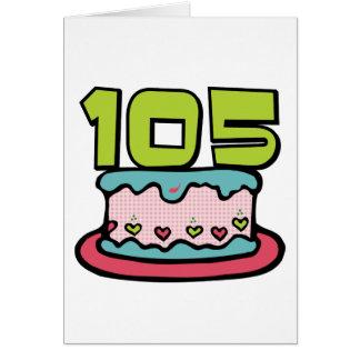 105 Jährig-Geburtstags-Kuchen Karte