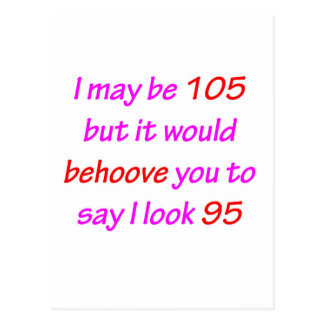 105 obliegen Sie Ihnen Postkarte