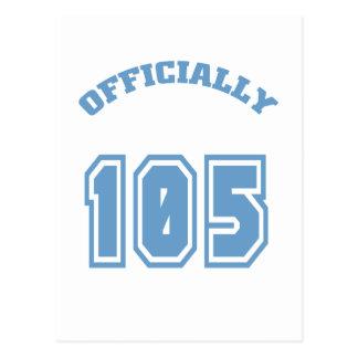 105 offiziell postkarte