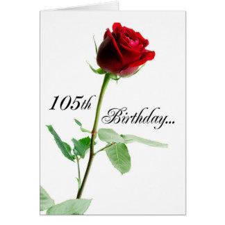 105th Geburtstags-Rote Rose Karte
