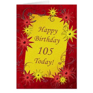 105th Geburtstagskarte Karte