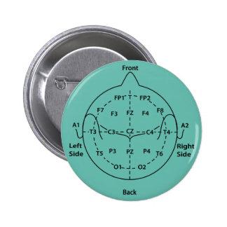 10-20 HauptBriefmarken-Knopf Runder Button 5,1 Cm