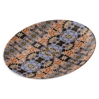 "10,75"" dekorative Porzellan-Platte - Earthscapes Porzellanteller"