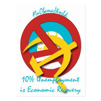 10% Arbeitslosigkeit ist wirtschaftliche Erholung Postkarte
