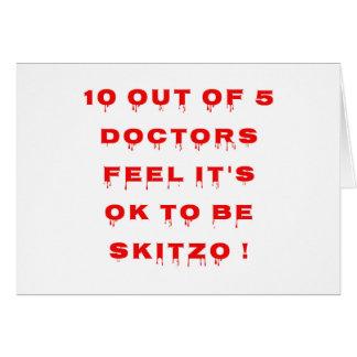 10 aus 5 Doktoren heraus glauben, dass es OKAY Karte