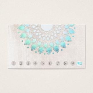10 Durchschlags-Kunden-Loyalitäts-Türkis Lotus Visitenkarte