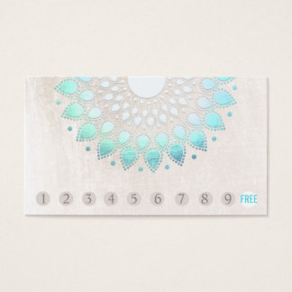 10 Durchschlags-Kunden-Loyalitäts-Türkis Lotus Visitenkarten