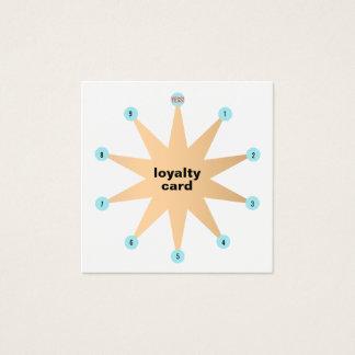 10 Durchschlags-Stern-Kunden-Loyalitäts-Karte Quadratische Visitenkarte
