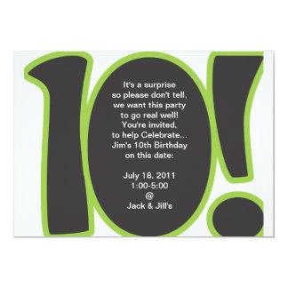 10. Geburtstag laden ein 12,7 X 17,8 Cm Einladungskarte