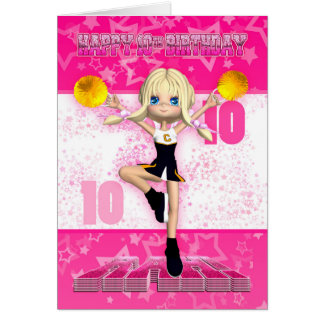 10. Geburtstags-Cheerleader-Gruß-Karte Grußkarte
