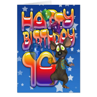 10. Geburtstags-Karte, alles Gute zum Geburtstag