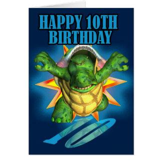 10. Geburtstags-Karte mit einer Schildkröte Karte