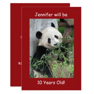 10. Geburtstags Party Einladungs Riesige Pandas Karte