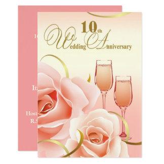 10. Hochzeits-Jahrestags-Party Einladungen