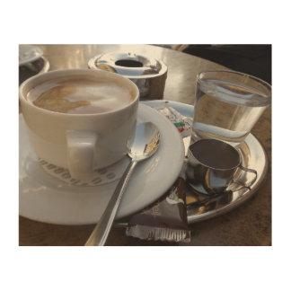 """10"""""""" hölzerne Kunst der Wand-x8 - Kaffee-Programm"""