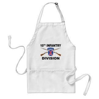 10. Infanteriedivision - Berg - gekreuzte Gewehre Schürze
