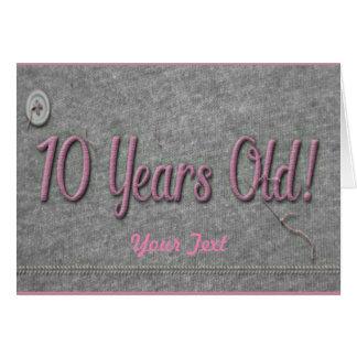 10 Jahre alt Karte